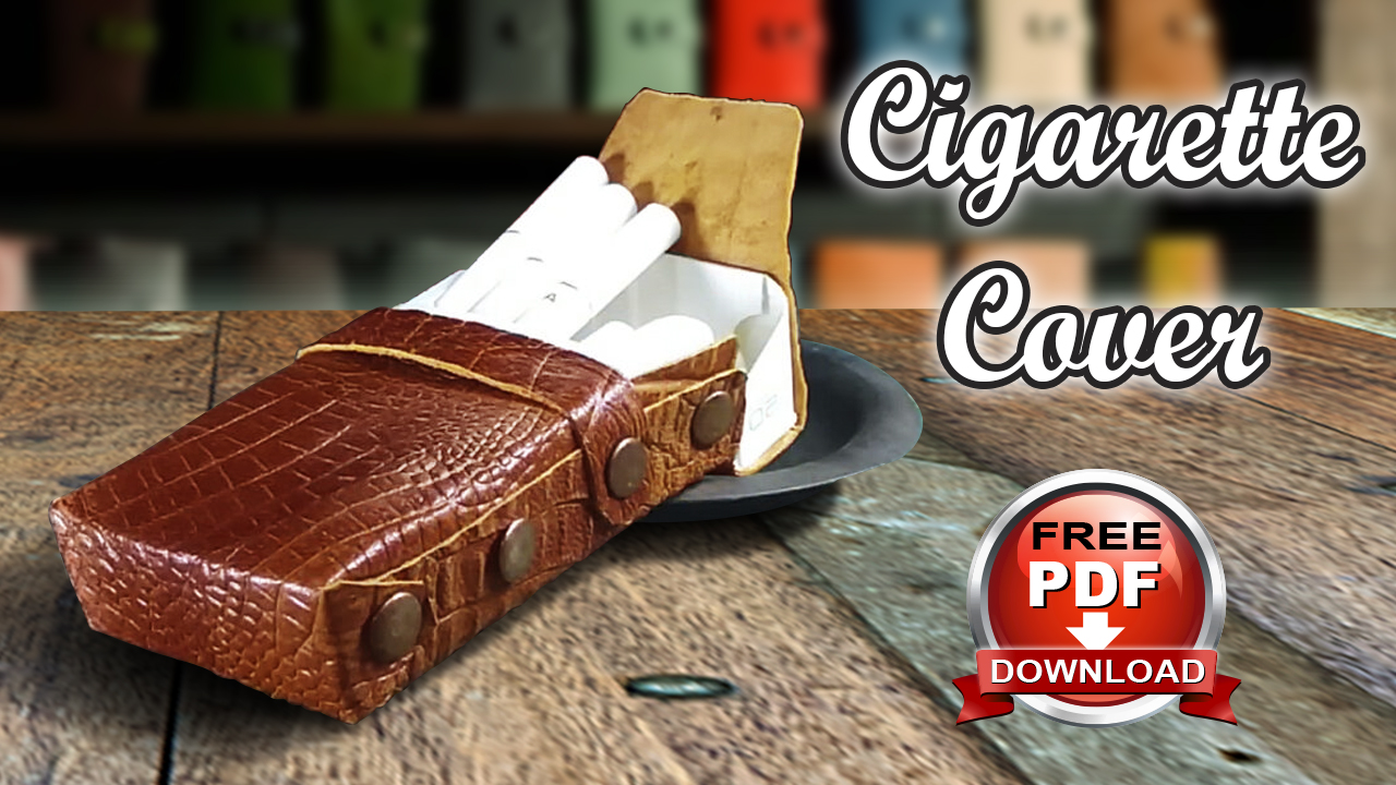 Make a luxury cigarette leather cover, Free PDF Pattern – DIY
